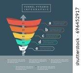 funnel spiral business pyramid... | Shutterstock .eps vector #696452917