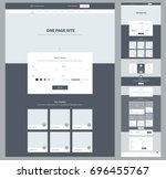 one page website design... | Shutterstock .eps vector #696455767