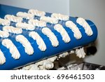 biscuit depositing machine ... | Shutterstock . vector #696461503