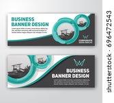 modern corporate banner... | Shutterstock .eps vector #696472543