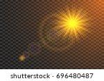 vector sunburst with lens flare ... | Shutterstock .eps vector #696480487