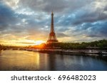 Scenic View Over The Eiffel...