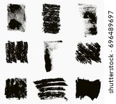 distress smer ink texture set.... | Shutterstock .eps vector #696489697