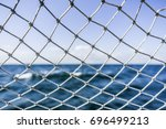 a material net that is a... | Shutterstock . vector #696499213