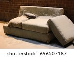 frosty couch | Shutterstock . vector #696507187