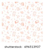 simple seamless pattern with...   Shutterstock .eps vector #696513937