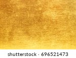 shiny yellow leaf gold foil... | Shutterstock . vector #696521473