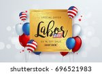 labor day sale promotion... | Shutterstock .eps vector #696521983