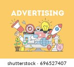 advertising concept... | Shutterstock . vector #696527407
