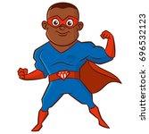 super hero african american man ... | Shutterstock .eps vector #696532123