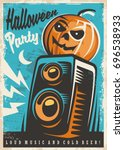 halloween party invitation... | Shutterstock .eps vector #696538933