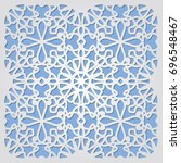 ornamental 3d cutout decoration.... | Shutterstock .eps vector #696548467
