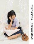 cute asian thai high school...   Shutterstock . vector #696550213