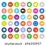 sports icons   Shutterstock .eps vector #696550957