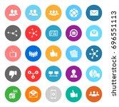 social icons | Shutterstock .eps vector #696551113