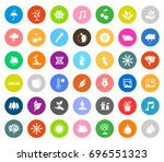 nature icons | Shutterstock .eps vector #696551323