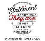 the way people treat you  is a...   Shutterstock .eps vector #696567307