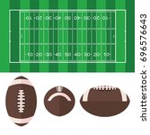 american football  field and... | Shutterstock .eps vector #696576643