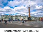 snt. petersburg  russia  may  7 ... | Shutterstock . vector #696583843