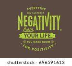 everytime you subtract... | Shutterstock .eps vector #696591613