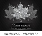 elegant autumn background with...   Shutterstock .eps vector #696592177