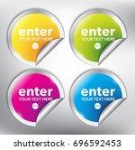 abstract vector sticker set of... | Shutterstock .eps vector #696592453