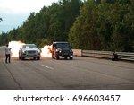 street racing | Shutterstock . vector #696603457