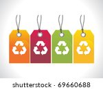 abstract recycle tag vector...