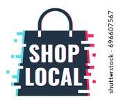 shop local. vector icon... | Shutterstock .eps vector #696607567