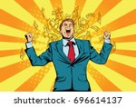 portrait of a happy businessman ... | Shutterstock .eps vector #696614137