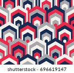 seamless geometric pattern.... | Shutterstock .eps vector #696619147