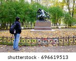 saint petersburg  russia   oct... | Shutterstock . vector #696619513