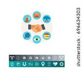 customer relationship icon | Shutterstock .eps vector #696634303