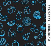 pictograph of fruits pattern... | Shutterstock .eps vector #696647683