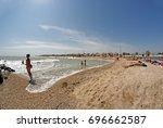berdyansk  ukraine   august 12  ... | Shutterstock . vector #696662587
