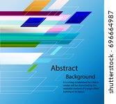 modern diagonal abstract... | Shutterstock .eps vector #696664987