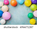Colorful Balloons And Confetti...