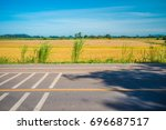 thailand country asphalt road... | Shutterstock . vector #696687517
