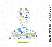 icons of social networks and...