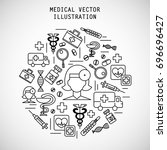 vector illustration concept.... | Shutterstock .eps vector #696696427