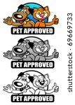 pet approved seal set   mark