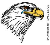 mascot eagle profile  crying... | Shutterstock .eps vector #696712723