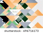 triangle pattern design... | Shutterstock .eps vector #696716173