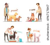 Dog Concept Icons Set With...
