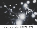 swans with michael gira perform ... | Shutterstock . vector #696721177