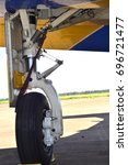 Small photo of Aircraft landing gear detail