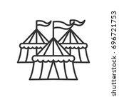 circus tents | Shutterstock .eps vector #696721753