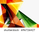 vector low poly style 3d... | Shutterstock .eps vector #696726427