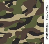 camouflage pattern background... | Shutterstock . vector #696727957
