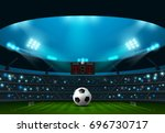 soccer football with scoreboard ... | Shutterstock .eps vector #696730717
